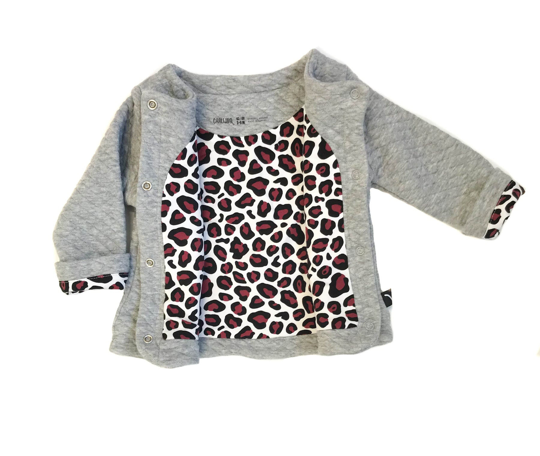 Quilted Cardigan with Leopard Lining – Benny & Lou