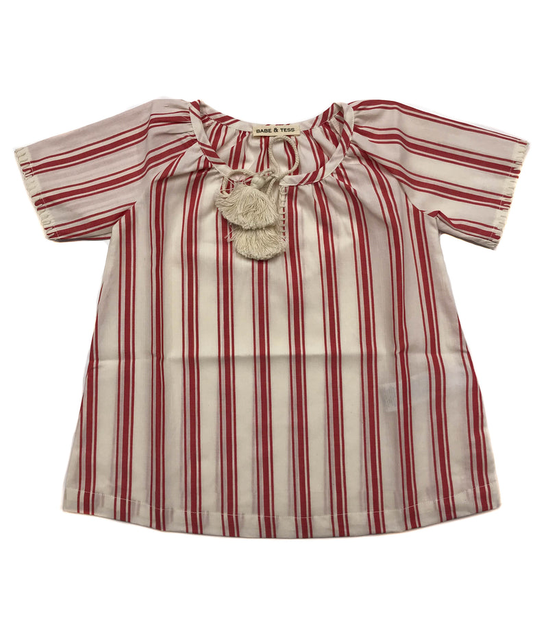 Baby Girls Summer Tunic Dress by Babe & Tess - Red