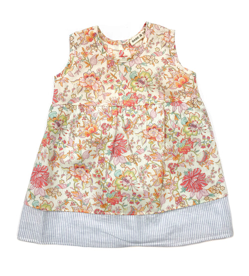 Baby Girls Pink Floral Print Dress by Babe & Tess