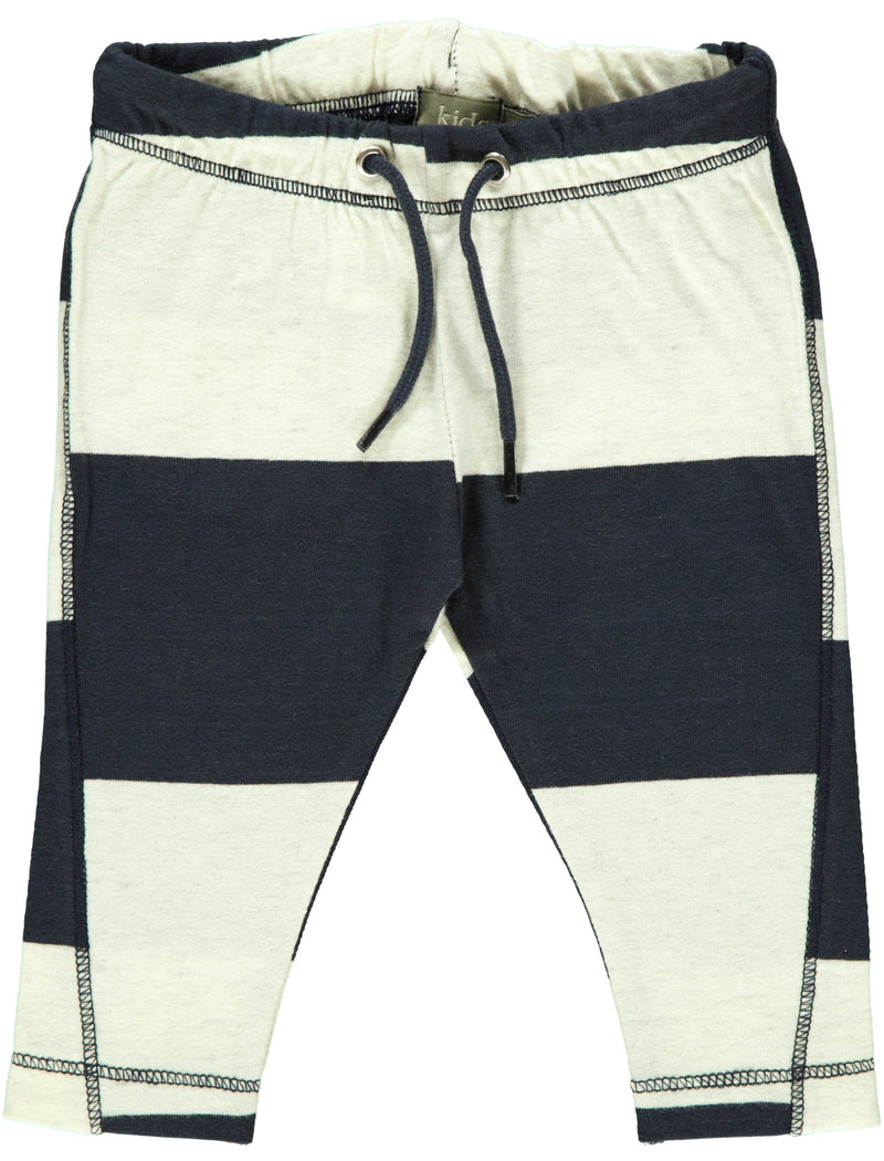 Luke Organic Pants / White/Blue