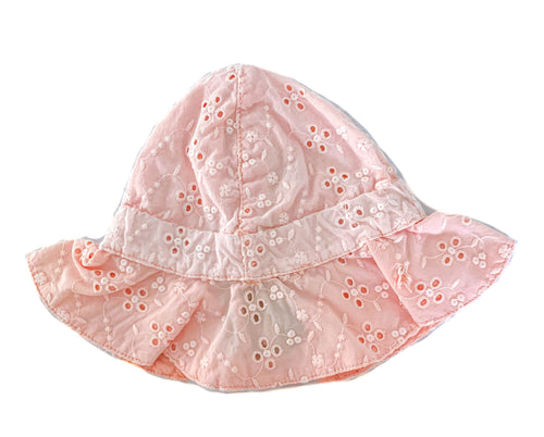 Swiss Embroidered Hat / Salmon