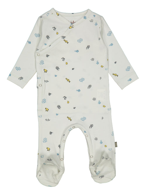 Organic Cotton Newborn Suit / Light Blue