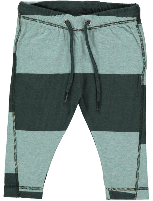 Luke Organic Pants / Lt. Blue / Green