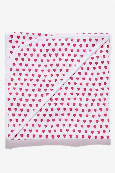 Roberta Roller Rabbit - Baby Swaddle Blanket Hearts