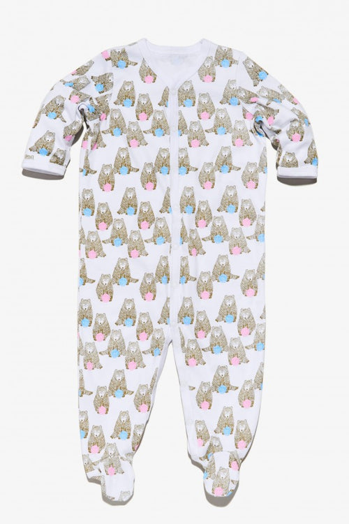 Infants Snap Pajama Stan the Bear