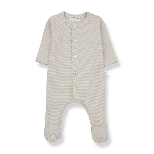 Delphine Jumpsuit with Feet, Ecru