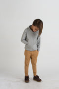 Double Pocket Hoodie / Heather Grey