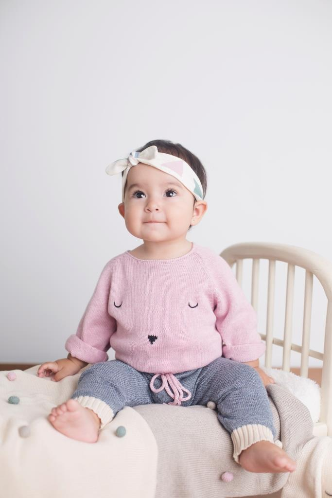 100% Pima Cotton Baby Girls Sweater