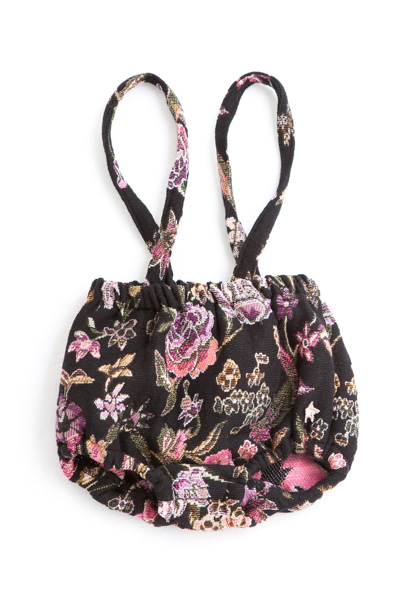 Flowers Jacquard Bloomer Suspenders