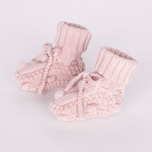 Knitted Booties / Rose