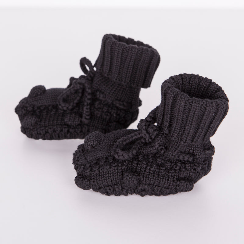 Knitted Booties / Black