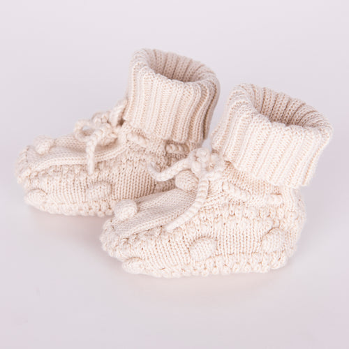 Knitted Booties / Ivory