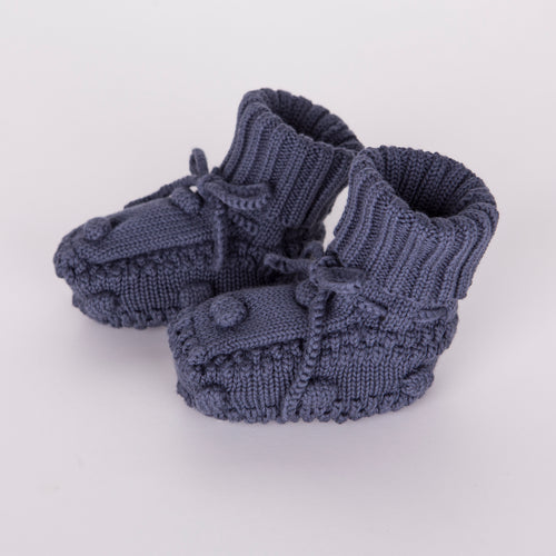 Knitted Booties / Navy