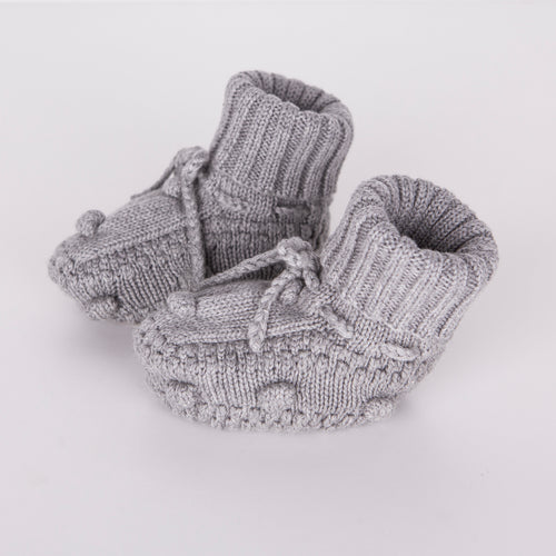 Knitted Booties / Grey