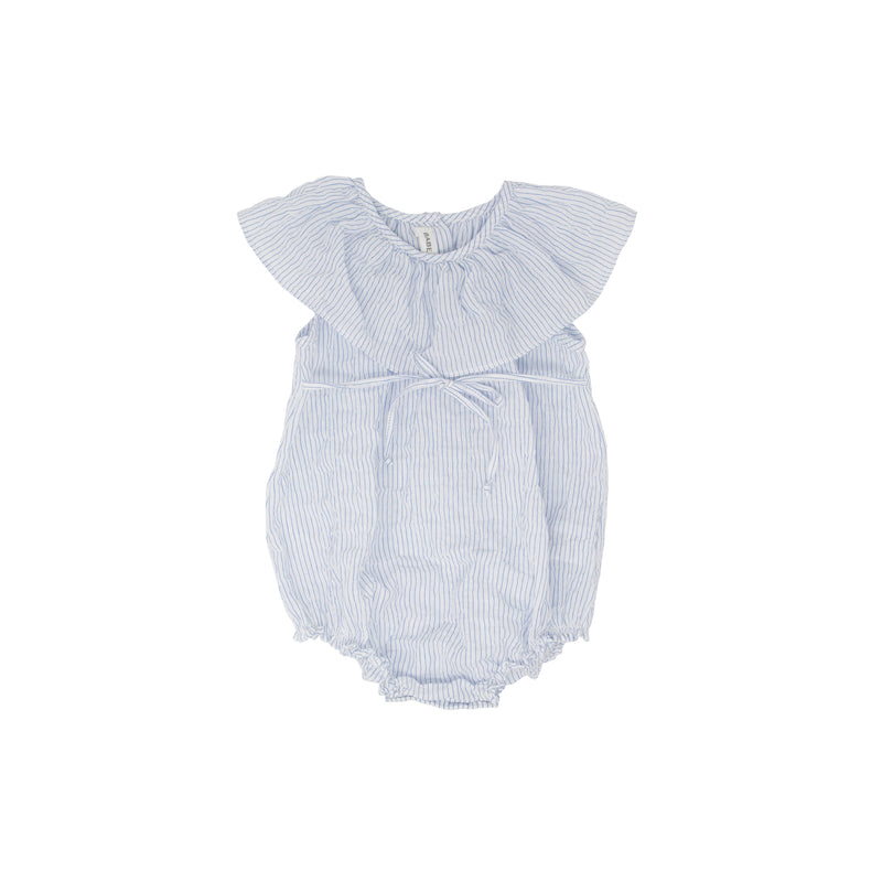 Babe and Tess Baby Girls Thin Stripe Romper