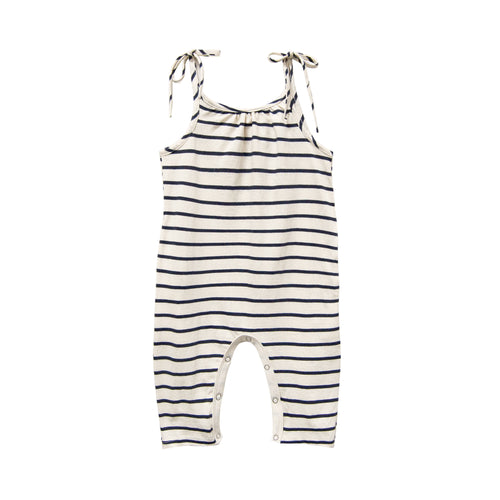 Jersey Jumpsuit, Navy Stripe