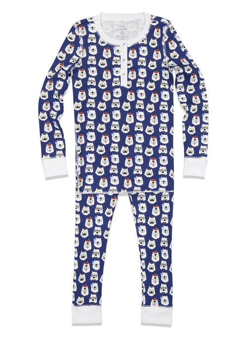Kids Bearry Holidays Pajamas / Blue