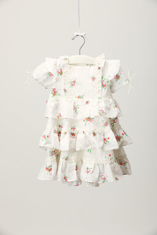 Sweet Crème Tiered Dress