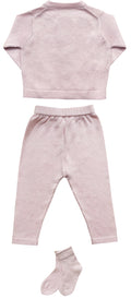 Soft Knit Layette Set / Baby Pink