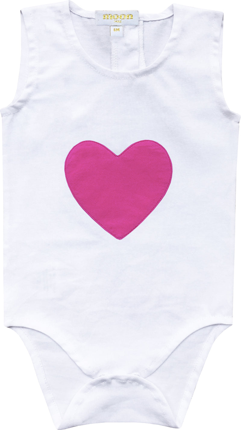 Baby Girls Heart Patch Onesie