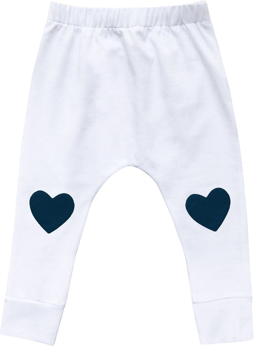 Baby Heart Patch Pants / Navy