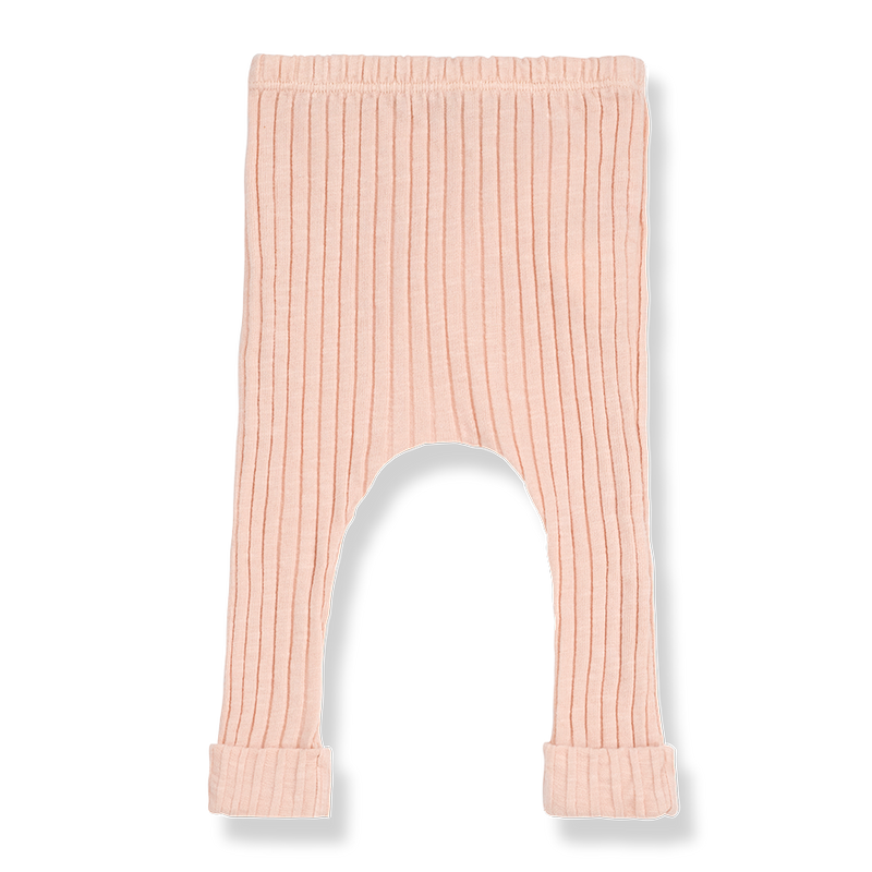 Wide Rib Martin Leggings / Light Rose