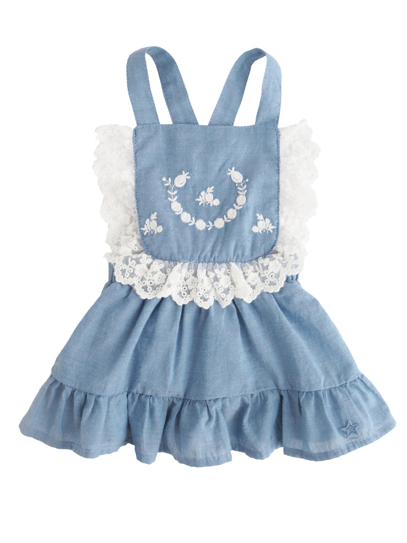 Chambray and Lace Dress