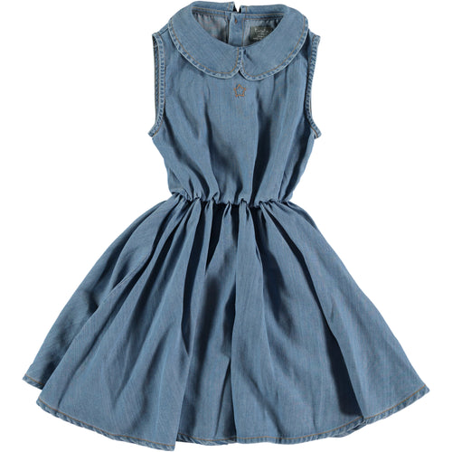 Sleeveless Denim Short Dress