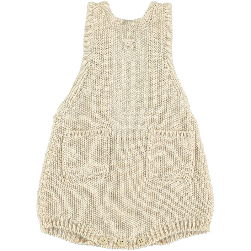 Knit Rice Grain Romper