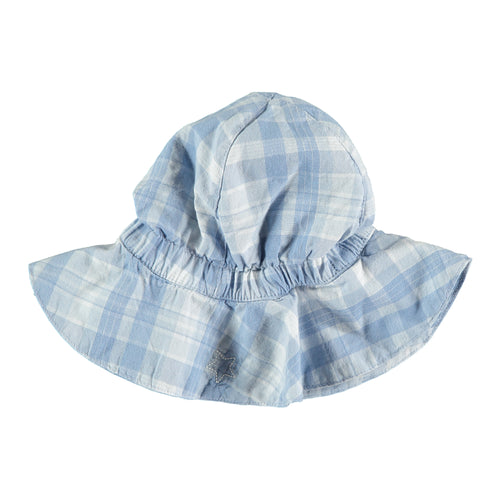 Checked Denim Hat