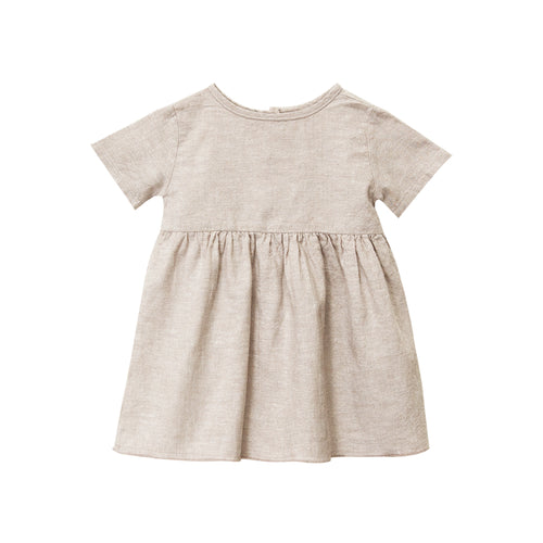 Short Sleeve Prairie Dress, Wheat