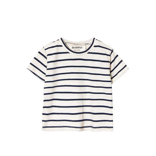 Solid Tee, Navy Stripe