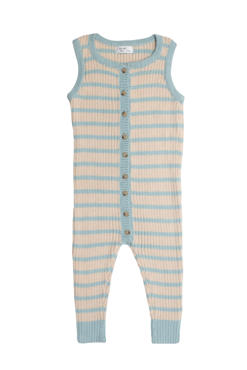 Striped Knit Playsuit