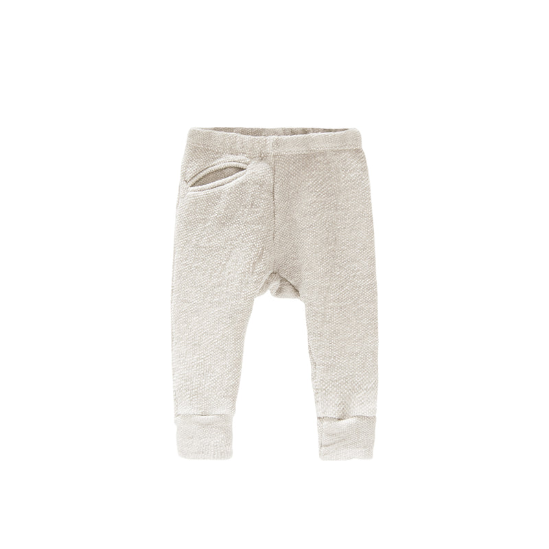 Textured Raw Pocket Track Pant / Natural