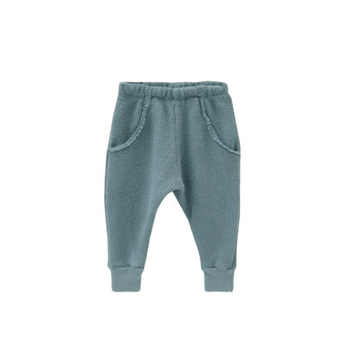 Textured Raw Pocket Track Pant / Rain