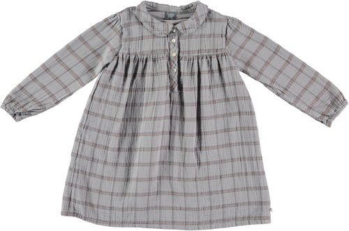 Checkered Collar Dress