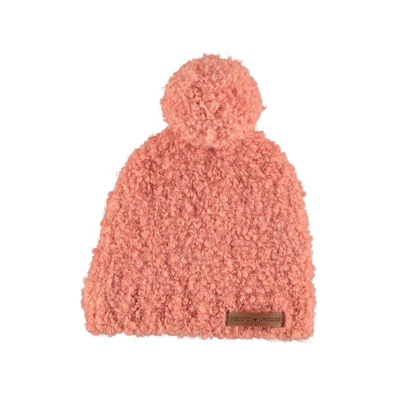 Hat with Pompom, Pink