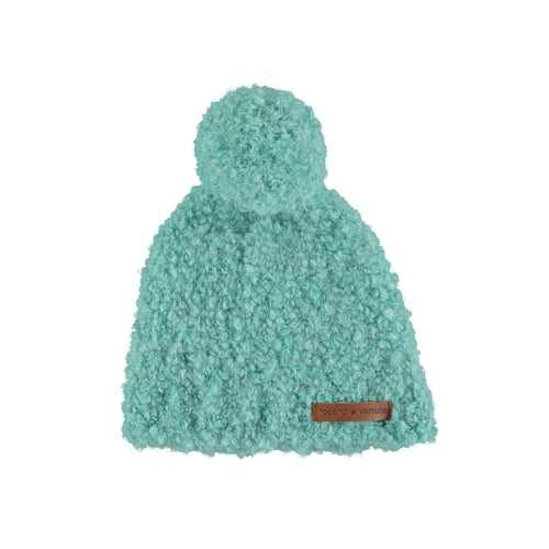 Hat with Pompom, Green