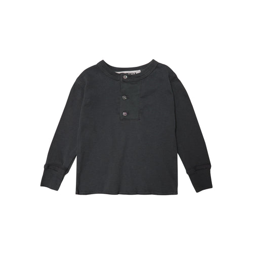 Wide Placket Henley / Charcoal