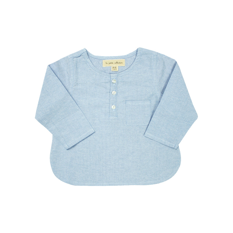 Baby Boys Chambray Shirt - La Petite Collection