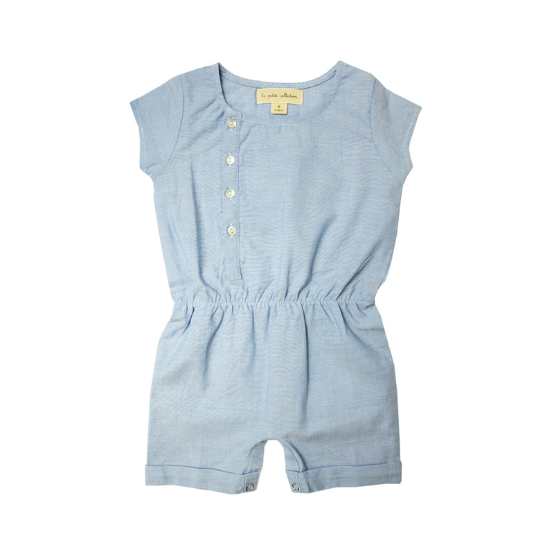 Baby Girls Chambray Romper - La Petite Collection
