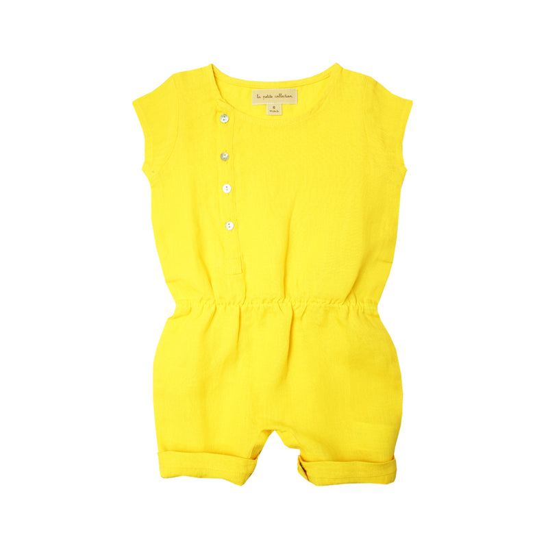 Baby Girls Yellow Summer Romper - La Petite Collection
