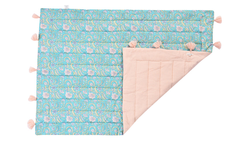Louise Misha Floral Baby Quilt