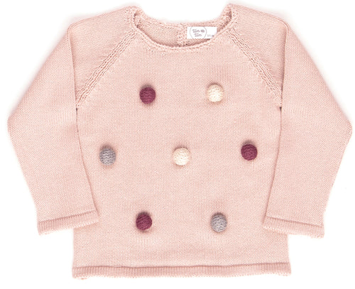 Pompom Sweater / Rose