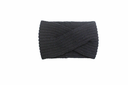 Knitted Headband, Black