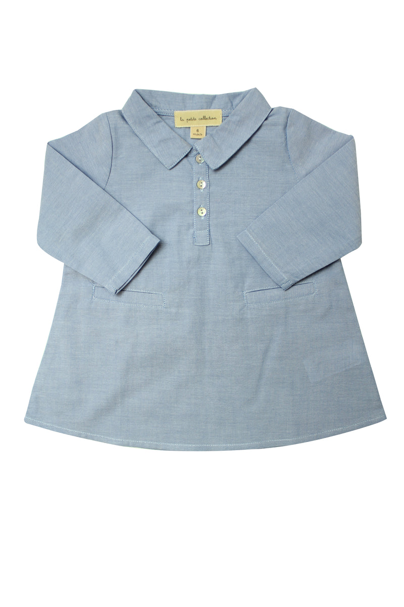 Baby Girls Chambray Dress - La Petite Collection