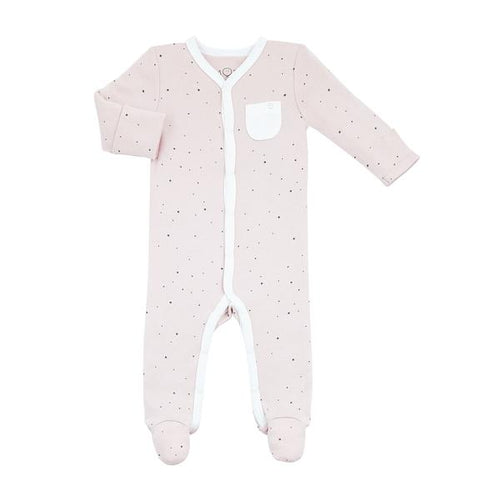 Front Opening Sleepsuit with Snaps - Stardust *New Color*