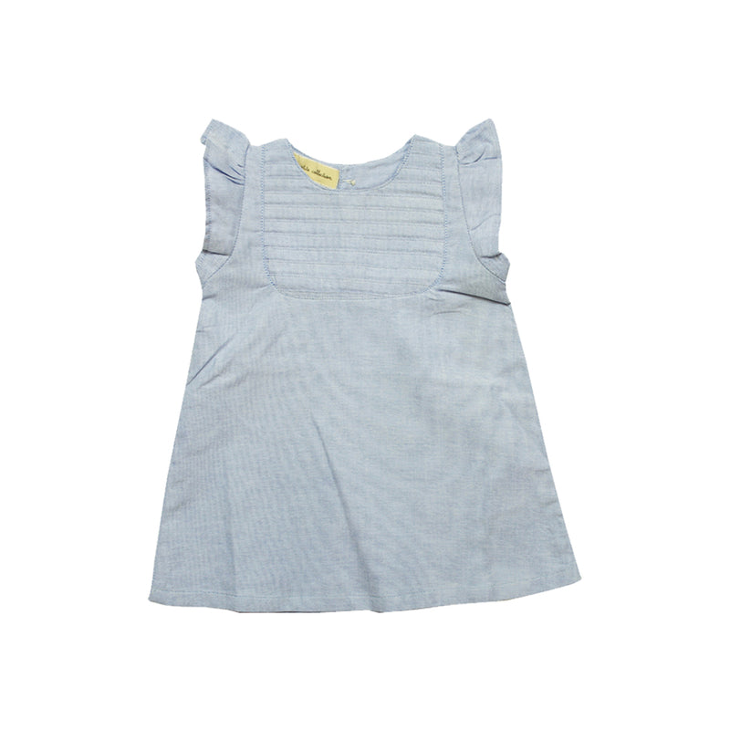 Baby Girls Chambray Summer Dress - La Petite Collection
