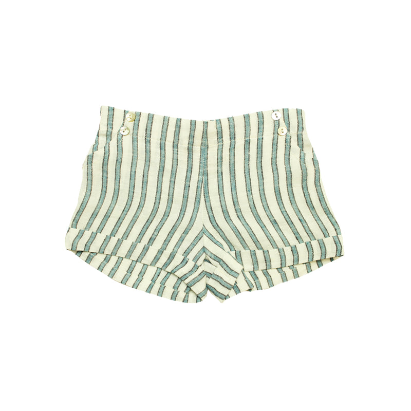 Baby Girls Striped Linen Shorts - La Petite Collection