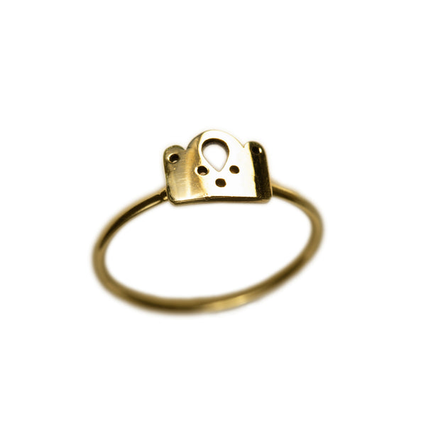 Princess Crown Gold Ring II